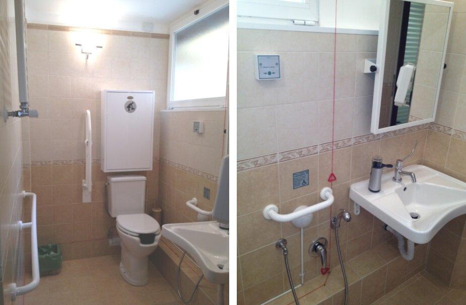 Il bagno per disabili fasciatoio dentista genova studio piccardo implantologia ortodonzia - Bagno barriere architettoniche ...
